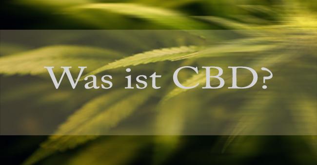Was ist CBD mit Pflanze im Hinergrund